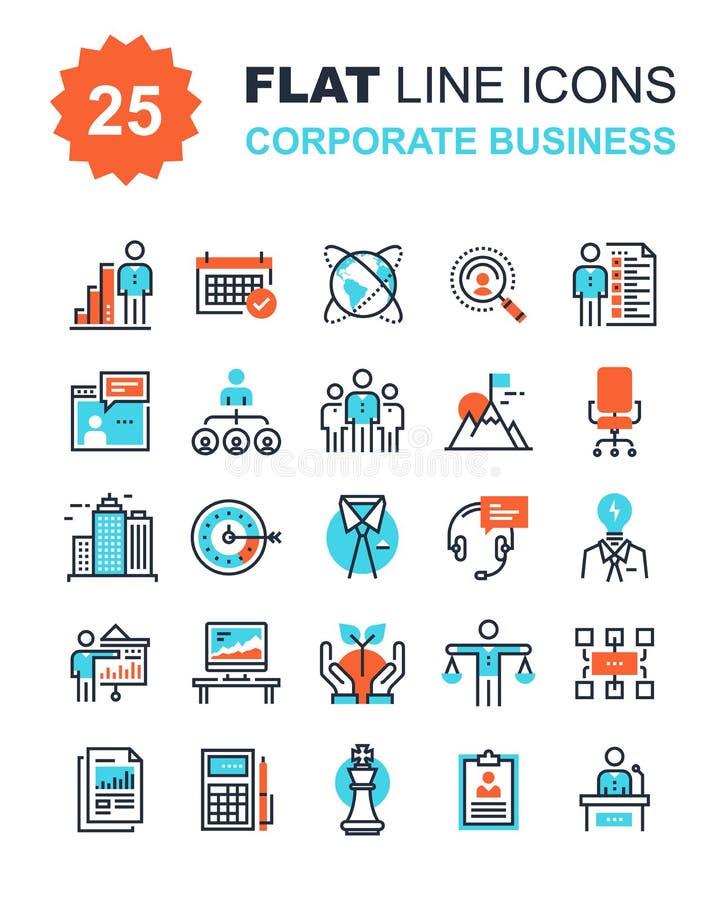 Icone di affari corporativi illustrazione vettoriale