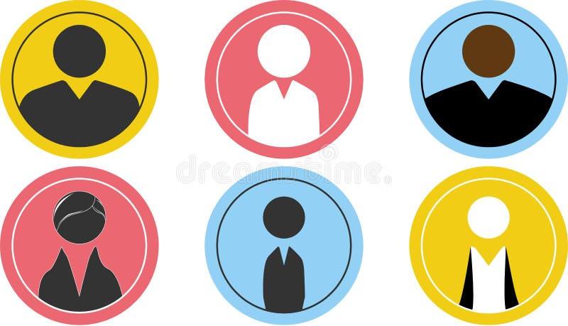 Icone di affari della gente illustrazione di stock