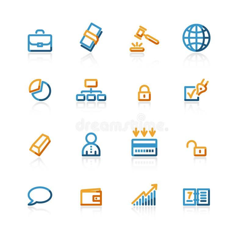 Icone di affari di profilo illustrazione di stock