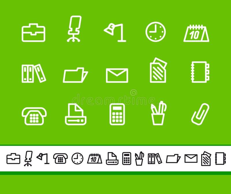 Icone di affari e dell'ufficio illustrazione vettoriale