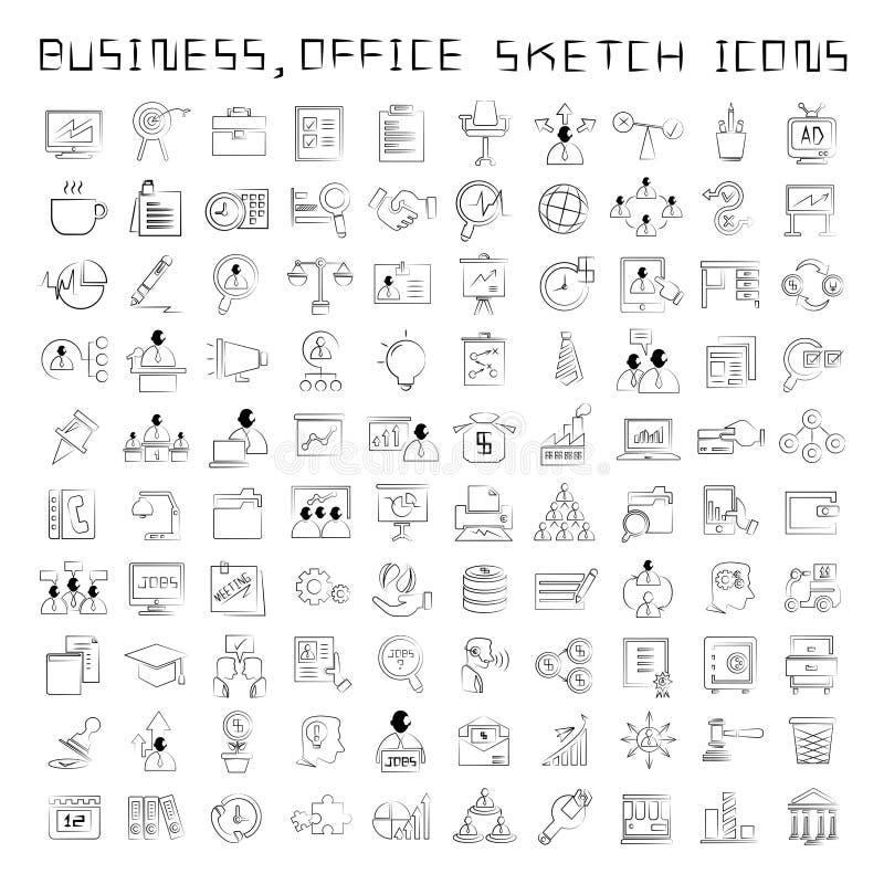 Icone di affari e della risorsa umana royalty illustrazione gratis