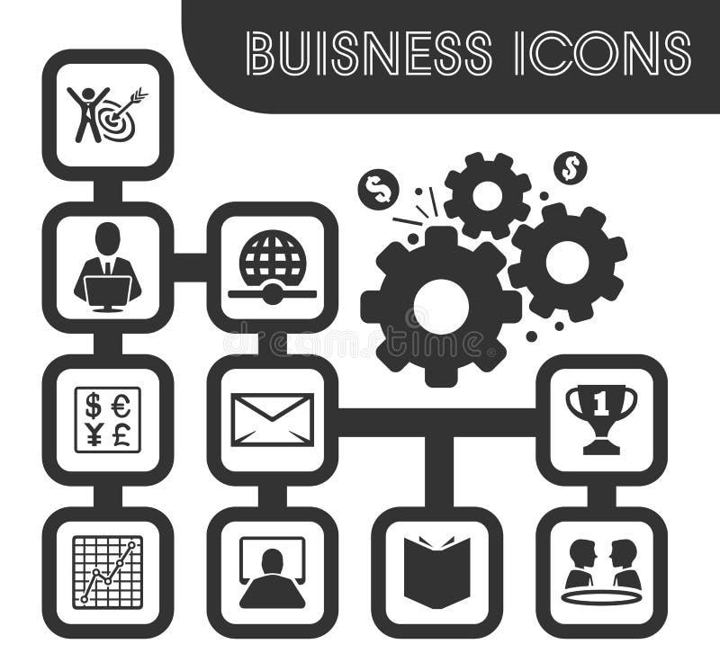 Icone di affari impostate illustrazione vettoriale
