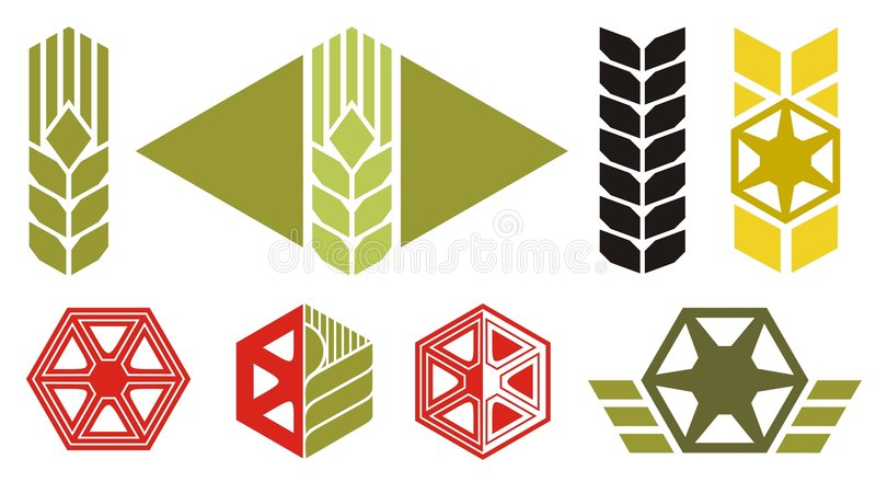 Icone di agricoltura royalty illustrazione gratis