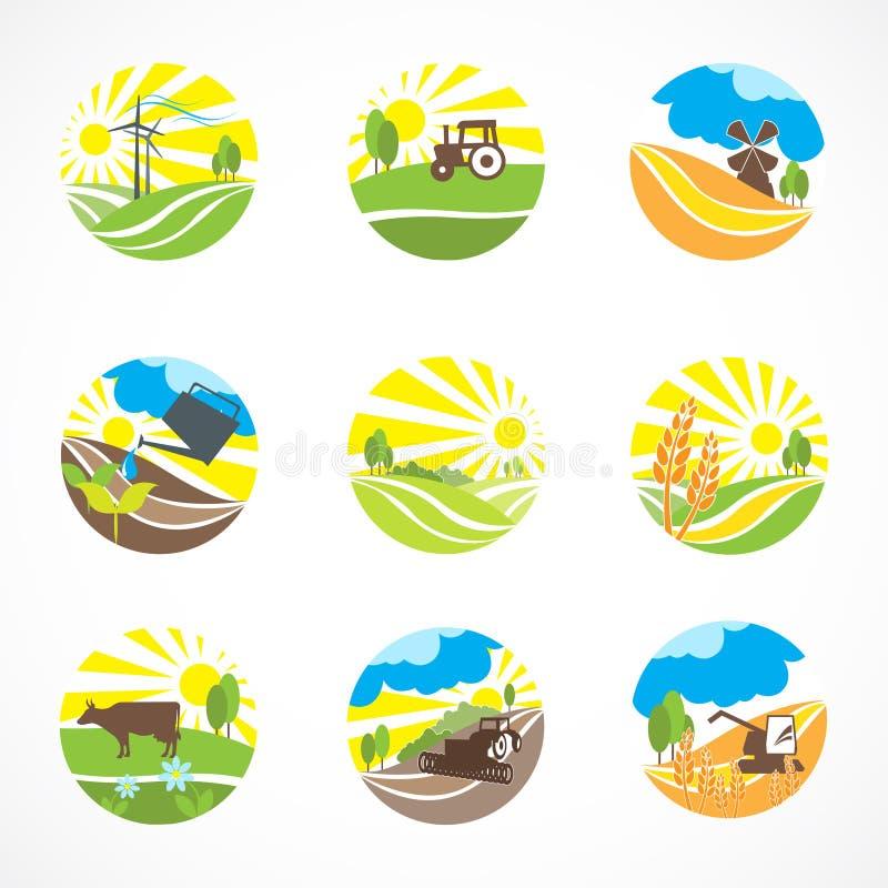 Icone di agricoltura messe