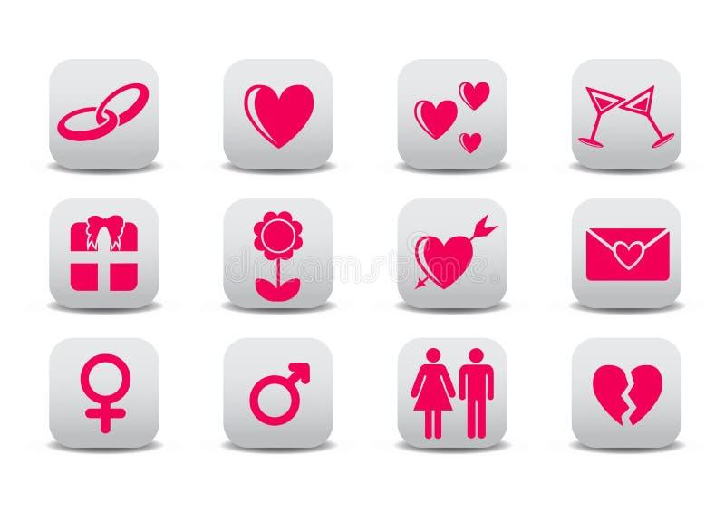 Icone di amore royalty illustrazione gratis