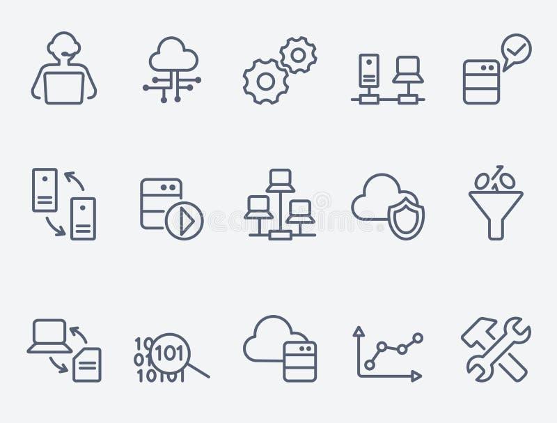 Icone di analisi dei dati della base di dati royalty illustrazione gratis