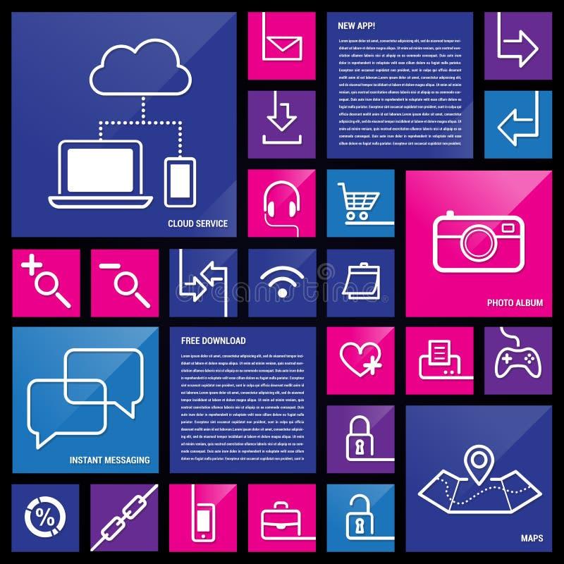 Icone di App illustrazione vettoriale