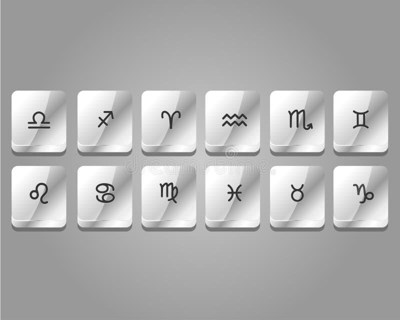 12 icone di App dello zodiaco royalty illustrazione gratis