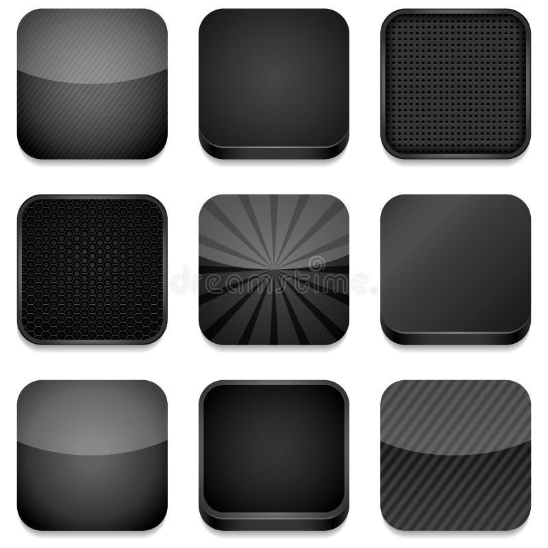 Icone di App - il nero royalty illustrazione gratis