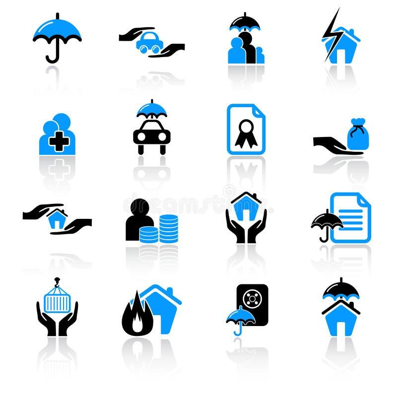 Icone di assicurazione fotografie stock libere da diritti