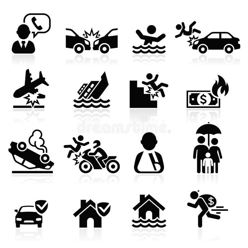 Icone di assicurazione impostate