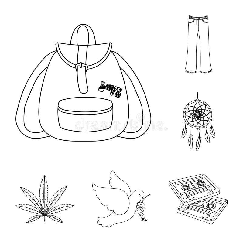 Icone di attributo e felici del profilo nella raccolta dell'insieme per progettazione Web degli accessori e felice di vettore di  royalty illustrazione gratis