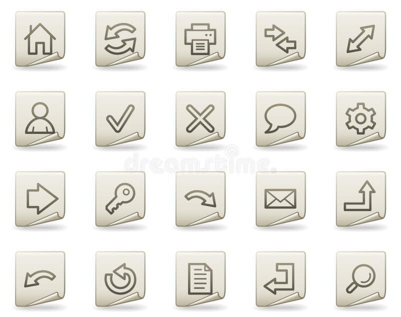 Icone di base di Web, serie del documento royalty illustrazione gratis