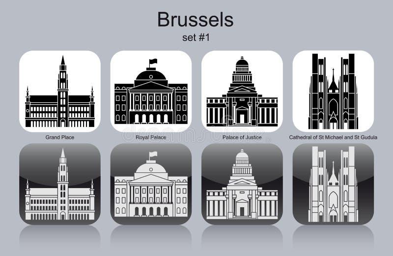 Icone di Bruxelles illustrazione di stock