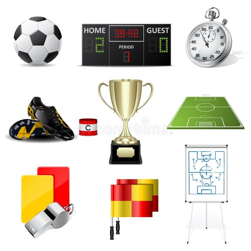 Icone di calcio di vettore illustrazione vettoriale