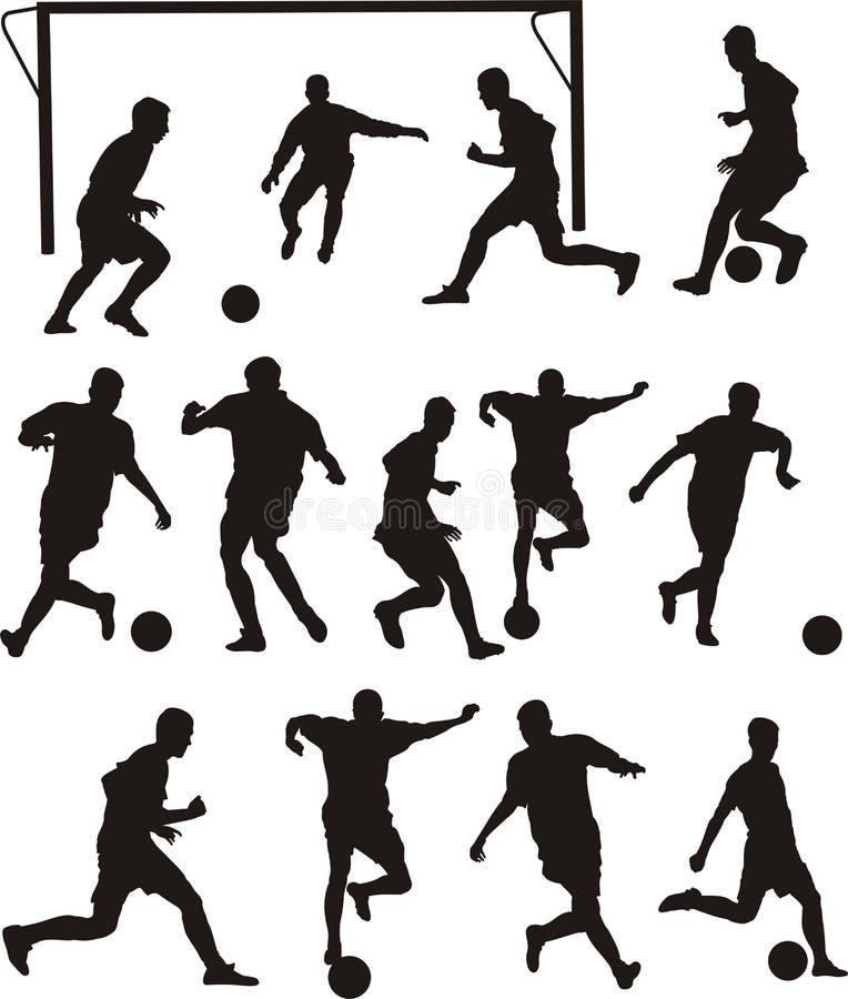 Icone di calcio o di calcio illustrazione vettoriale