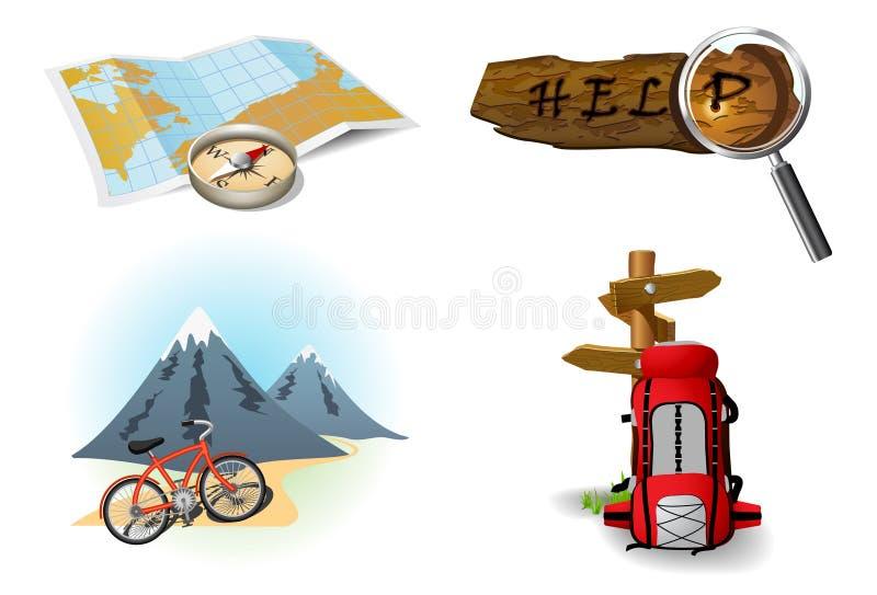 Icone di campeggio 2 illustrazione di stock