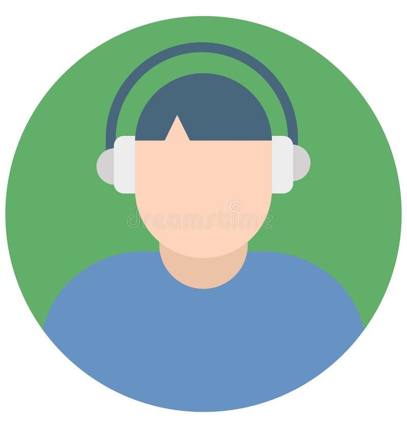 Icone di Color Isolated Vector del rappresentante del cliente che possono modificare o pubblicare facilmente illustrazione di stock