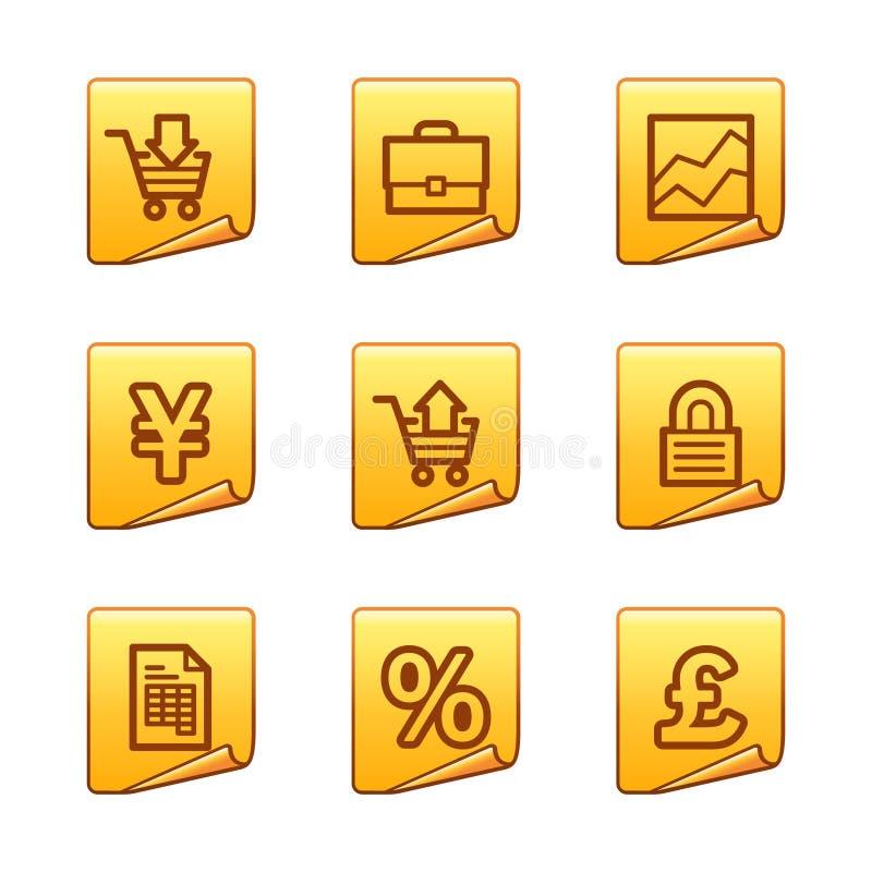 Icone di commercio illustrazione di stock