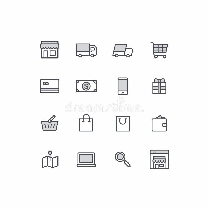 Icone di commercio royalty illustrazione gratis