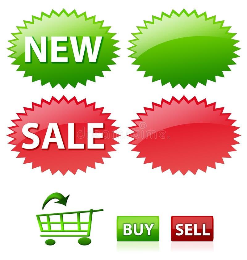 Icone di commercio elettronico royalty illustrazione gratis