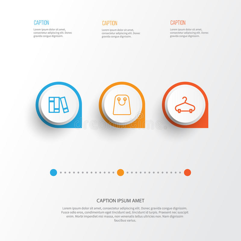 Icone di commercio elettronico messe illustrazione di stock