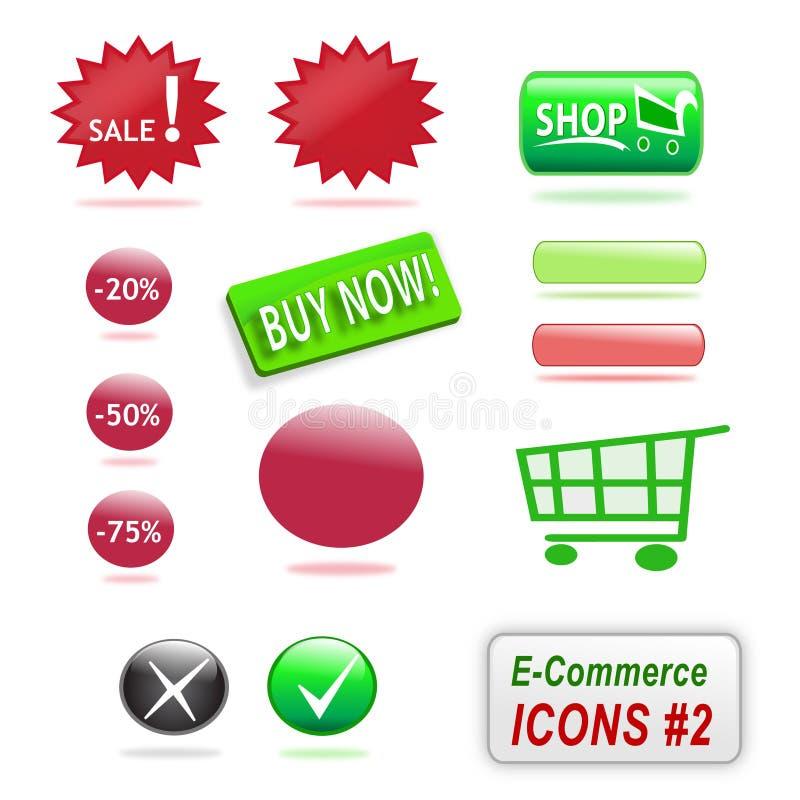 Icone di commercio elettronico, parte 2 illustrazione vettoriale