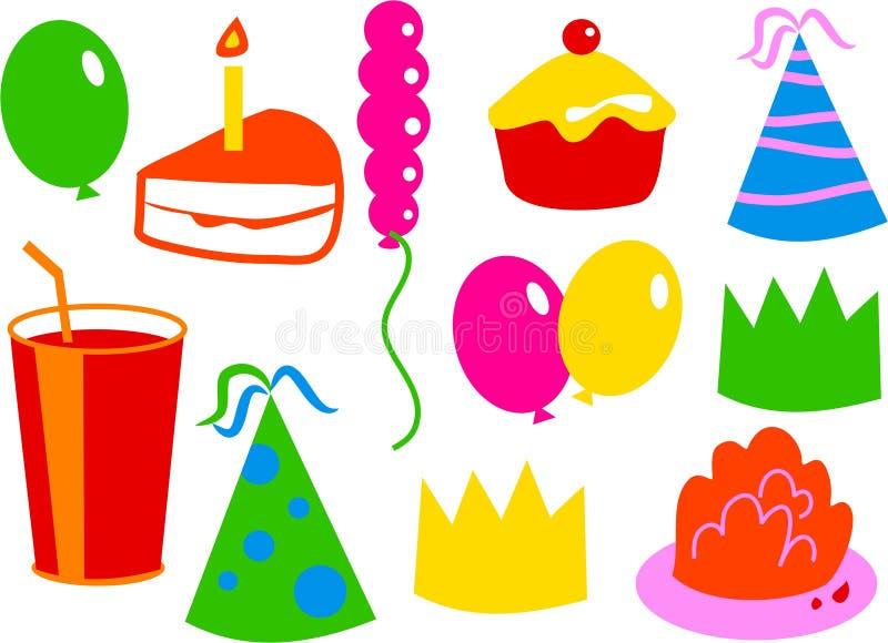 Icone di compleanno royalty illustrazione gratis