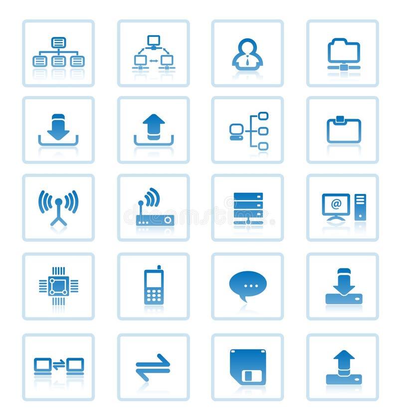 Icone di comunicazione. illustrazione di stock