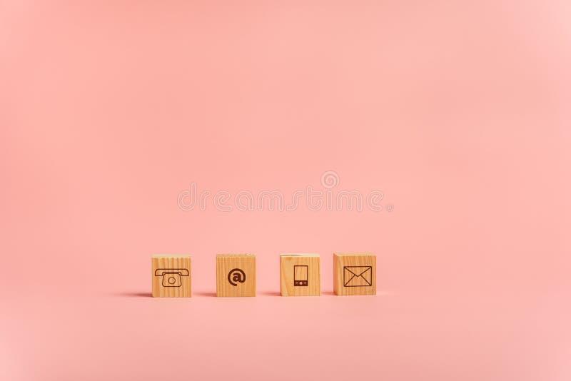 Icone di comunicazione e del contatto immagini stock