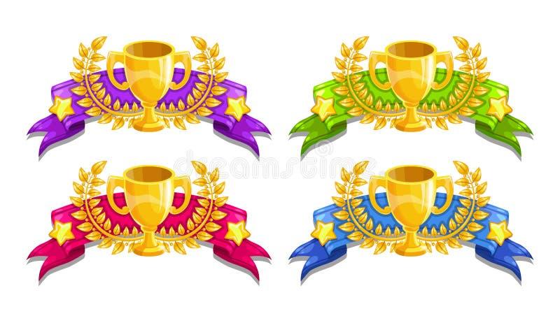 Icone di concetto di successo messe royalty illustrazione gratis