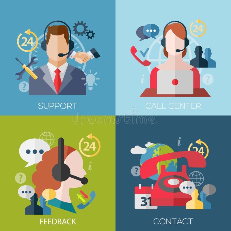 Icone di concetto per i servizi di telefono cellulare e di web illustrazione vettoriale
