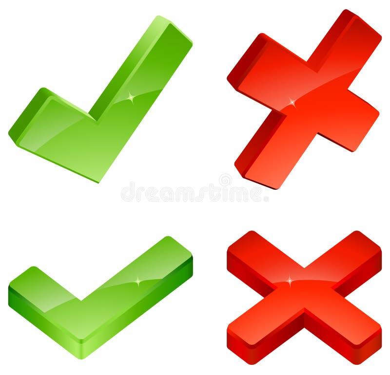 Icone di convalida illustrazione di stock
