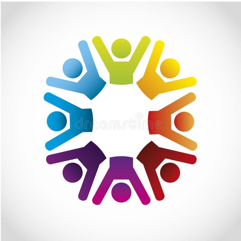 Icone di cooperazione illustrazione vettoriale