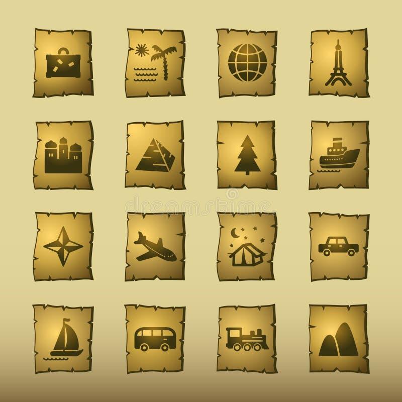 Icone di corsa del papiro illustrazione vettoriale