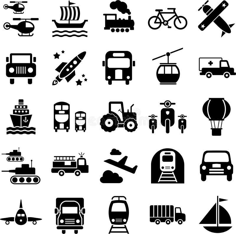 Icone di corsa del trasporto