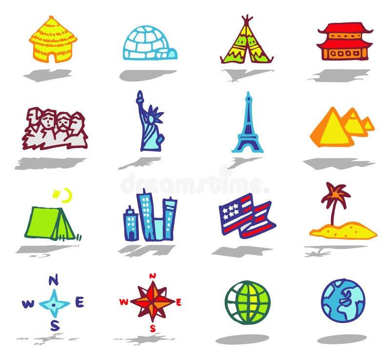 icone di corsa impostate illustrazione vettoriale