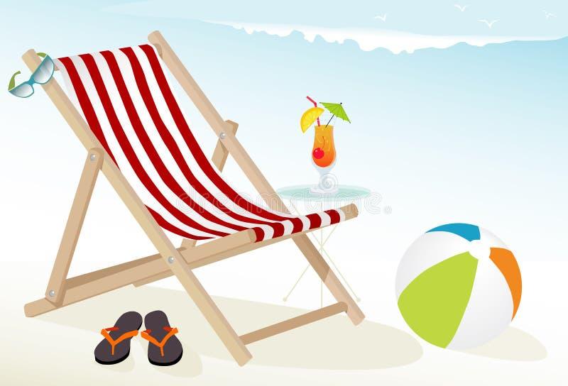 Icone di divertimento della spiaggia illustrazione vettoriale
