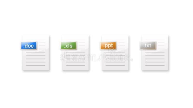 Icone di documento. fotografie stock libere da diritti