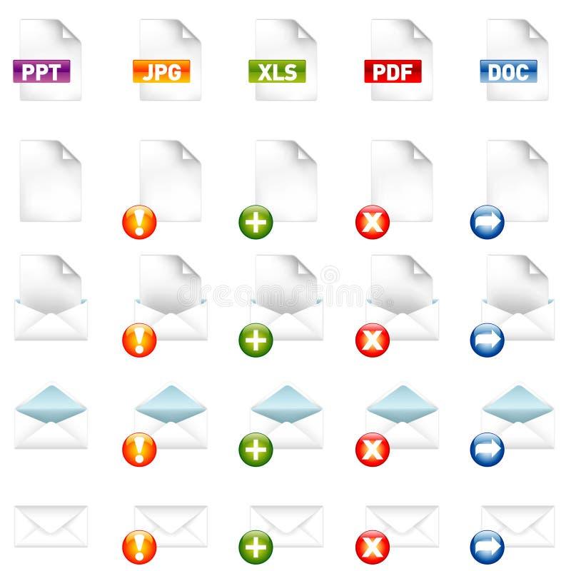 Icone di documento royalty illustrazione gratis