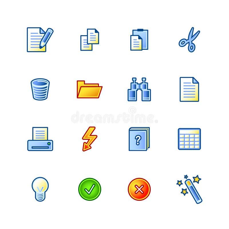 Icone di documento Colourful illustrazione vettoriale