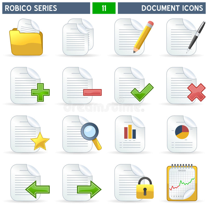 Icone di documento - serie di Robico royalty illustrazione gratis