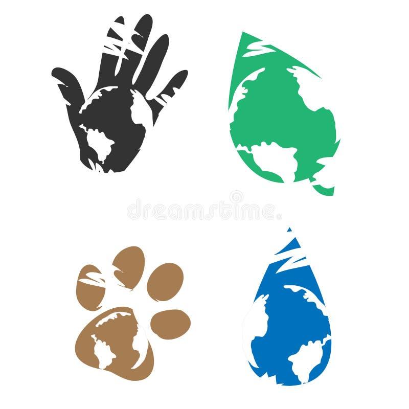 Icone di Eco illustrazione vettoriale