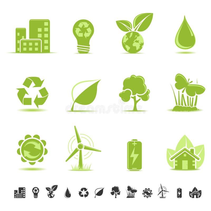 Icone di ecologia royalty illustrazione gratis