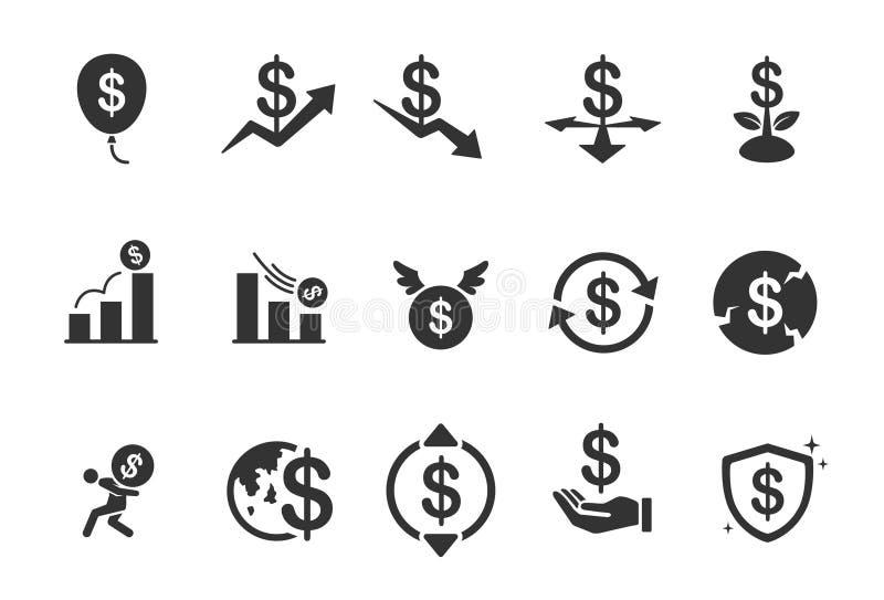 Icone di economia illustrazione vettoriale