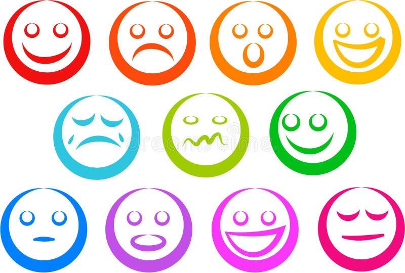 Icone di emozione royalty illustrazione gratis