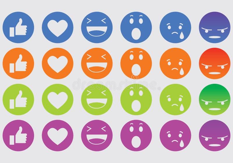 Icone di espressione illustrazione vettoriale