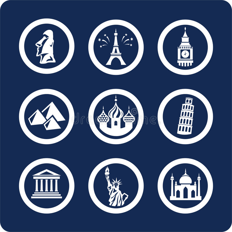 Icone di fama mondiale dei posti (imposti 7, la parte 1)