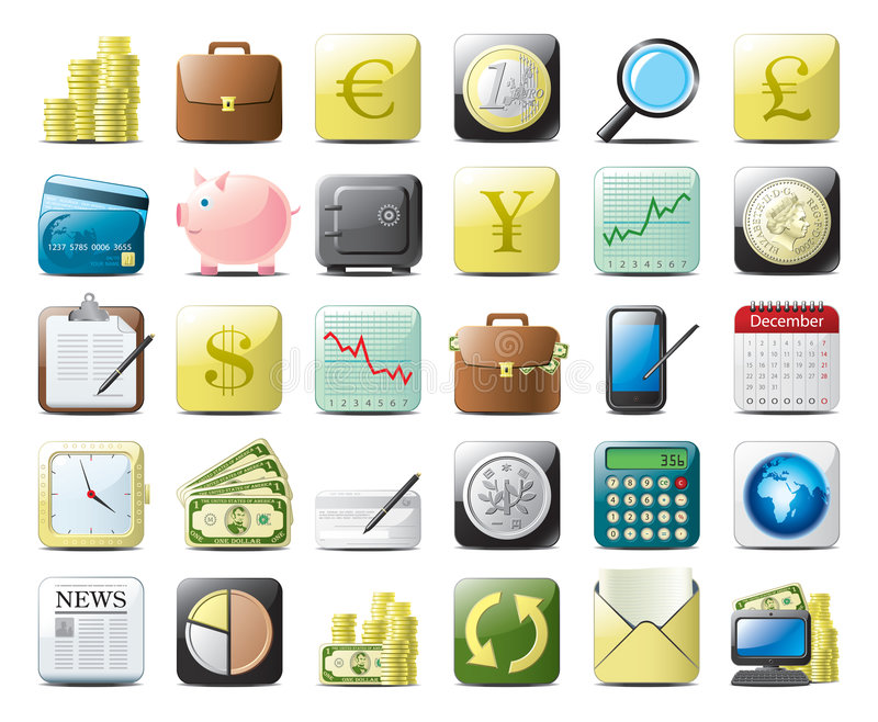 Icone di finanze illustrazione vettoriale