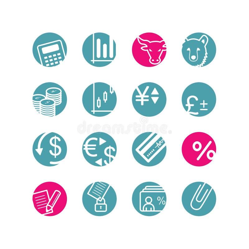 Icone di finanze del cerchio royalty illustrazione gratis